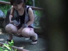 asian bitch piss public
