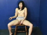 Fantastic Asian babe rubbing on her wet pussy all alone