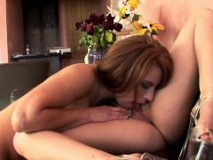 two alluring girls enjoying the overwhelming pleasures of lesbian sex