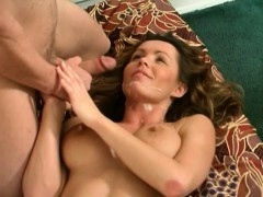 sultry blonde milf with massive breasts gets her twat devoured and banged