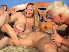 two hunky fuckers enjoy nailing this sexy woman's hot holes – Free Porn Video