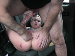 Hot Amateur Babe Gets Railed By Horny Driver In The Cab