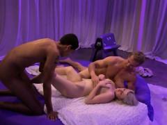 Group Of Men And Sexy Women Having Fun Inside Playboy
