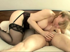 Dirty Mature Blonde Lets This Eager Young Dude Plug Her Hot Hole