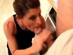 Lusty Older Woman Seduces And Fucks This Well-endowed Young Dude