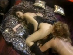 Sexy, busty lesbian babes in passionate pussy eating lovemaking