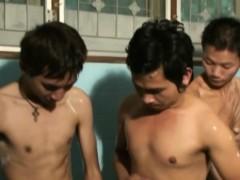 Gay Asian Twink Bukkake