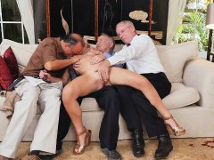 blonde slut raylin ann taking on three old men at once WWW.ONSEXO.COM