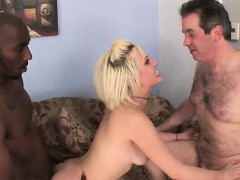 Humiliated Man Obeys Blonde Wife