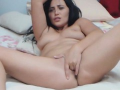 Gorgeous Dark Haired Babe Masturbates