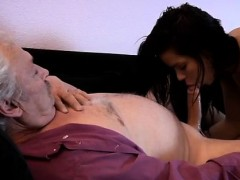japanese old father and blowjob and ride bruce a sloppy old