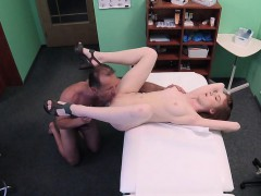 redhead slut bangs doctor in fake hospital