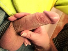 busty old woman picked up for penis riding