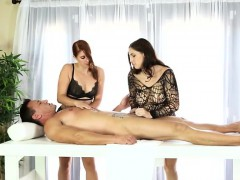 two-nasty-masseuses-shared-clients-cock-under-the-table