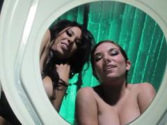 femdoms demean toiletsub with golden shower