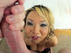 asian babe pov gagging Blowjob