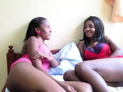 Shameless African Lesbians Stretch Their Slippery