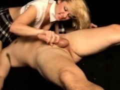 Schoolgirl Dominates Bitchboy