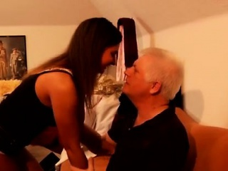 Two old men fuck young girl Latoya makes clothes, but she li
