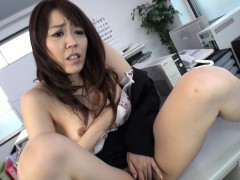 office-slut-fondles-her-wet-pussy-on-the-table