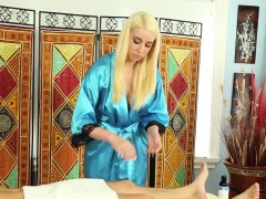 Masseuse Guzzles Cum Load