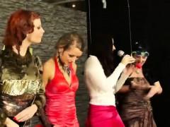 Stylish European Babes Shower In Lube