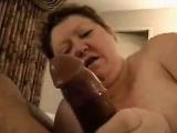 Orny amateur milf providing a blowjob