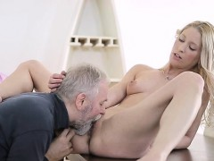 Old Guy Has Sex With Sweet Young Teen Receives Penis Sucked