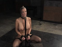 deepthroated restrained sub gagging