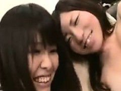 sexy asian lesbians play with each other and one is caught