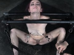 restrained slave tits and nipples punished