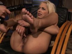 spanked slave dildofucked by mistress