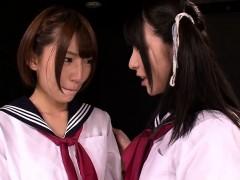 lesbian schoolgirls lick and finger pussy