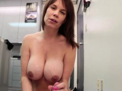 busty-office-milf-strips-and-wanks-cock-pov