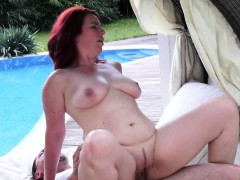 redhead cougar penetrated outdoors