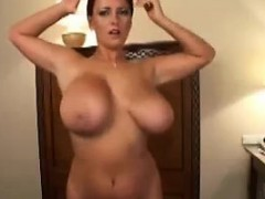 milf dancing with her monster tits