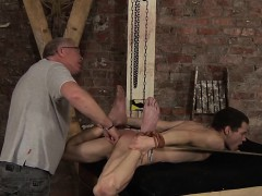 Dominant Master Sebastian Waxing Jonnys Body Hard