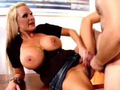 Horny Milf Sharon Pink Gets Fucked By A Young Cock