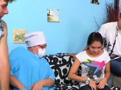 guy assists with hymen physical and humping of virgin cutie