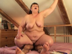 Picked up chubby mature woman rides his cock