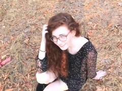 redhead woman fucked outdoors ends with a facial Teen XXX Videos