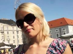 Public Pickedup Euro Babe Giving Handjob