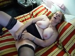 chubby mature orgasms from gadget