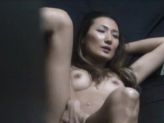 Asian babe solo rubbing