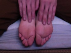 21 year Old Christais Sweet Feet Tickled