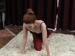 flexible redhead contortion teen