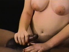 Placing On Her Fingers And Jerking A Penis Off