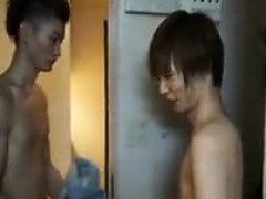 Two Attractive Japanese Guys Indulging In Hard Sex Action O