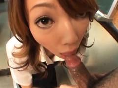 Cute Babe Saori Kitajima Is Showing Off Her Cock Engulfing