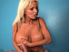 Busty Titfucked Granny In Cum Control Session
